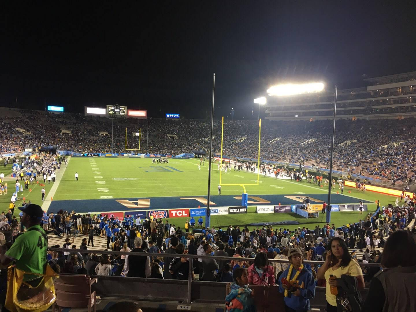 Rose Bowl Section 10-H Row 34 Seat 114