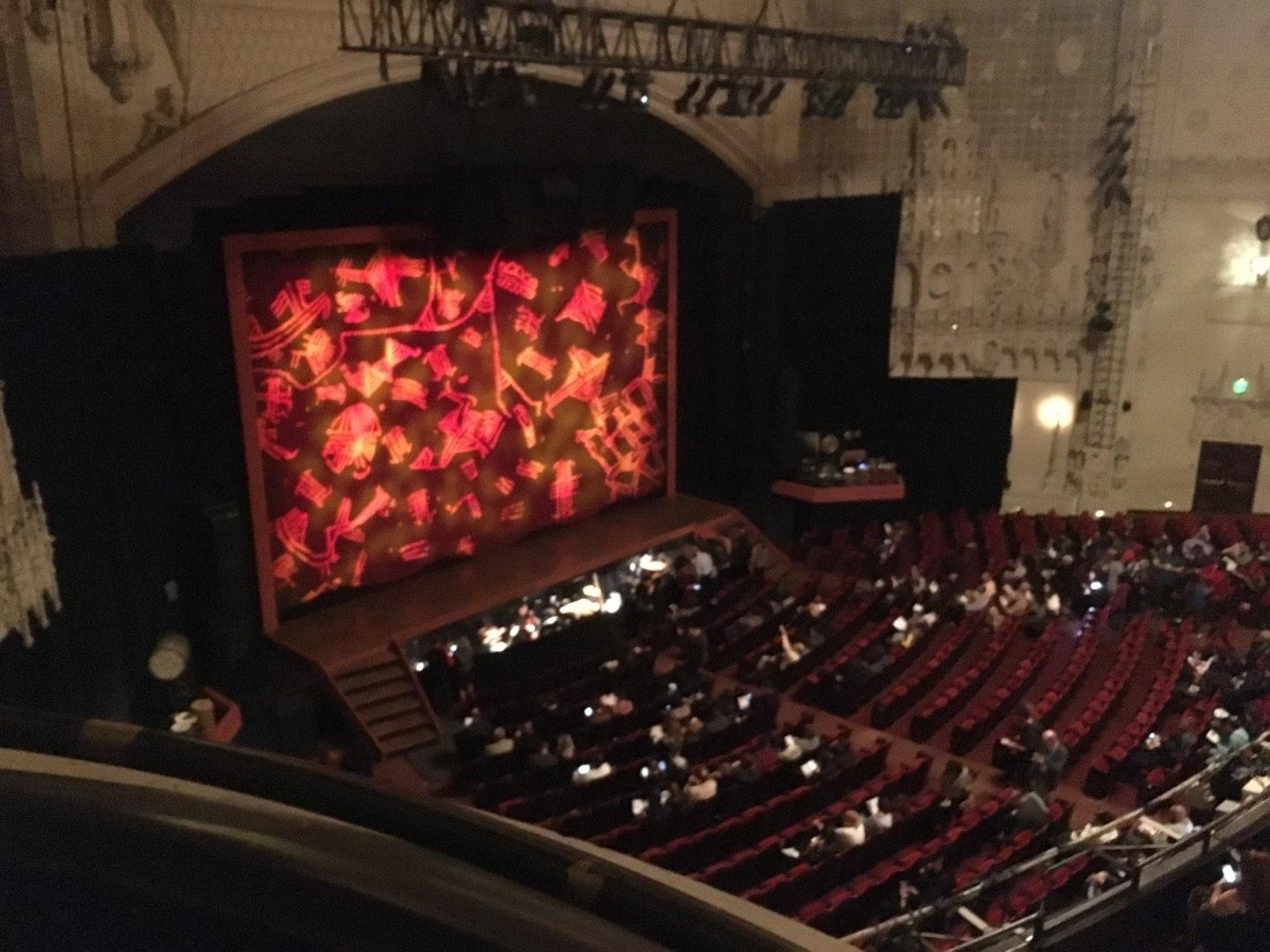 Orpheum Theatre (San Francisco) Section Balcony L Row Aa Seat 1