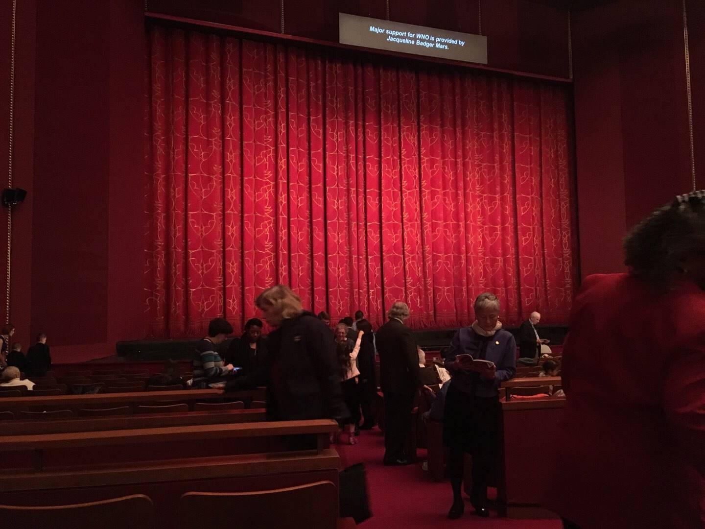 The Kennedy Center Opera House Section Orch Row U Seat 1