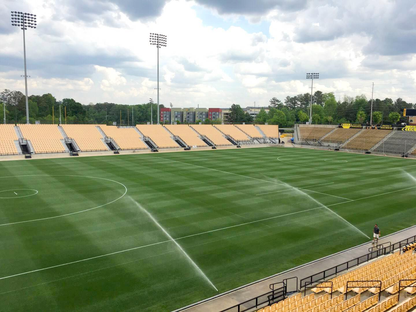 Fifth Third Bank Stadium Section 102 Outdoor Bay Suite Row 1