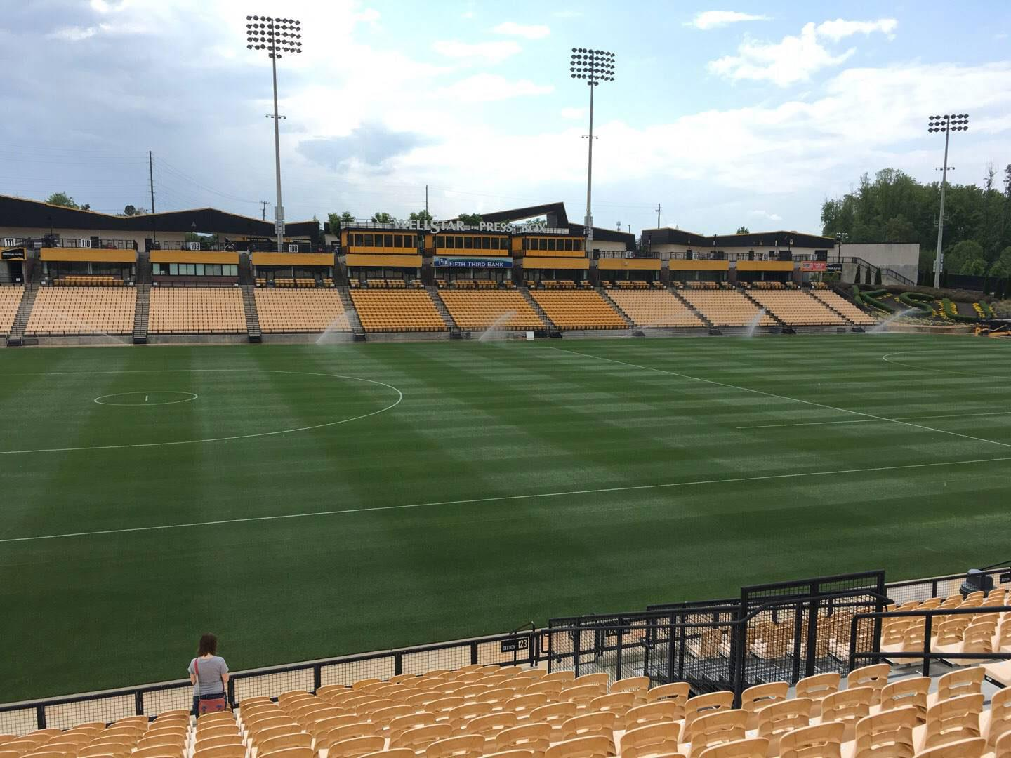Fifth Third Bank Stadium Section 123 Row R Seat 10