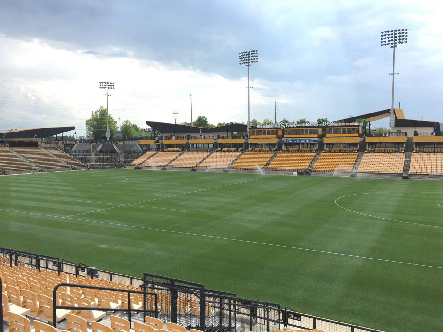 Fifth Third Bank Stadium Section 129 Row R Seat 10