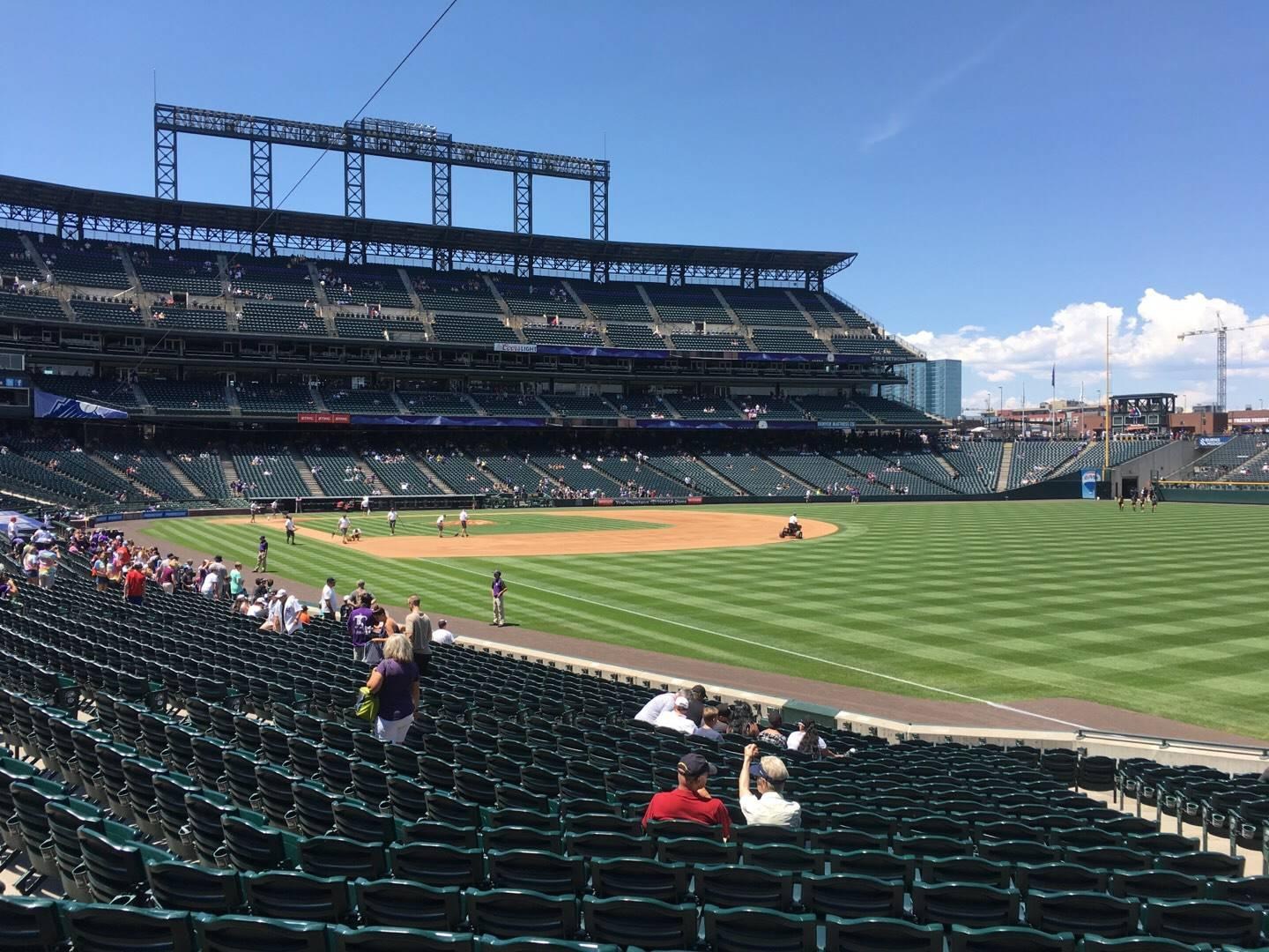 Coors Field Section 113 Row 22 Seat 5