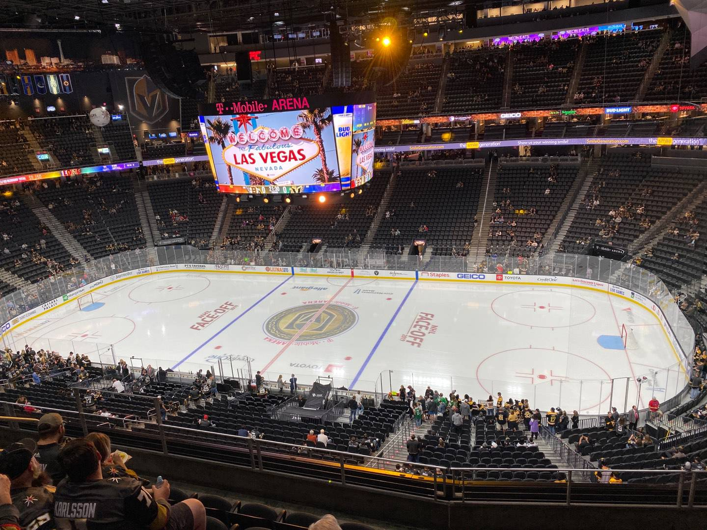 T-Mobile Arena Section 207 Row F Seat 8