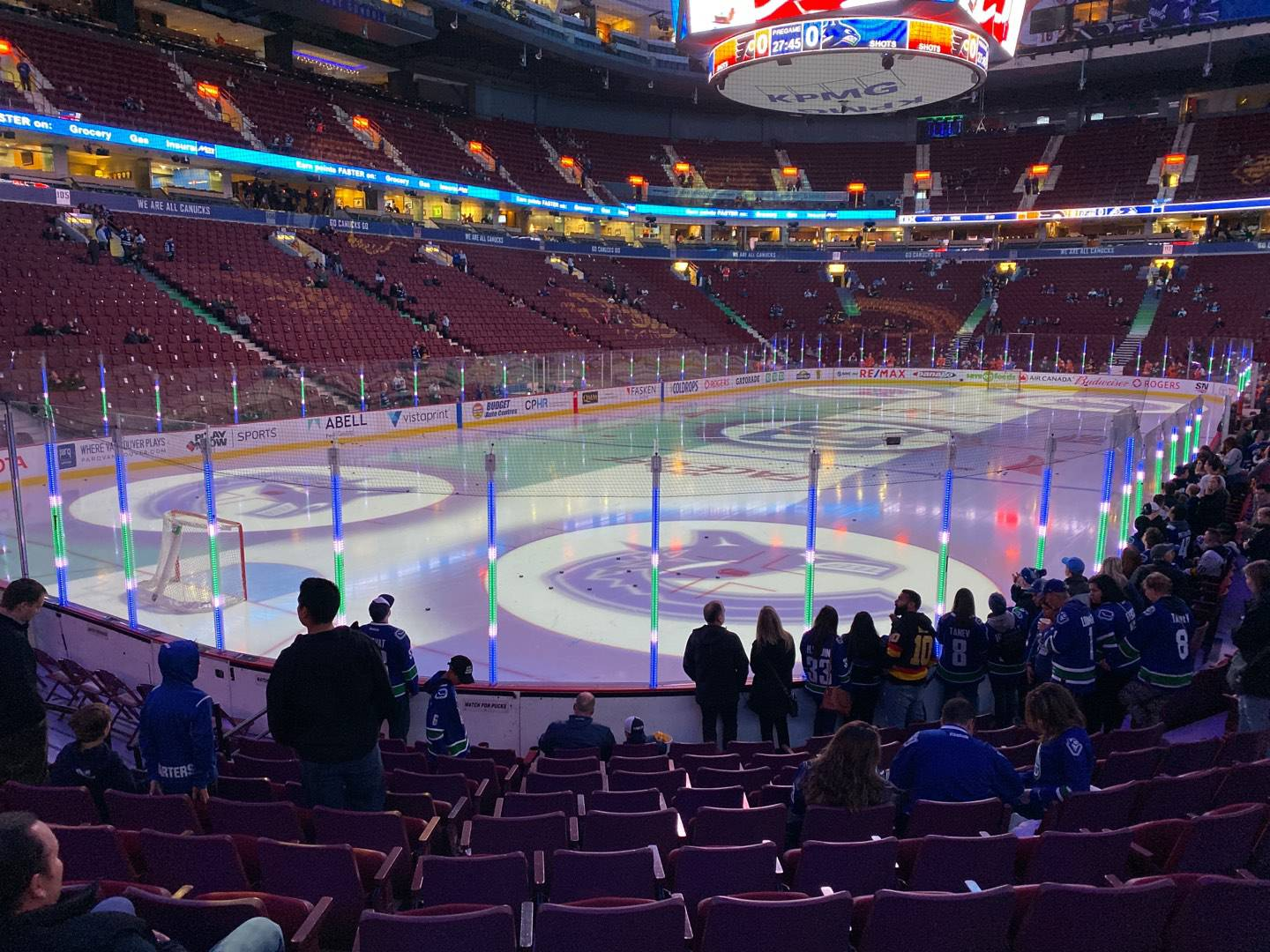 Rogers Arena Section 120 Row 11 Seat 114