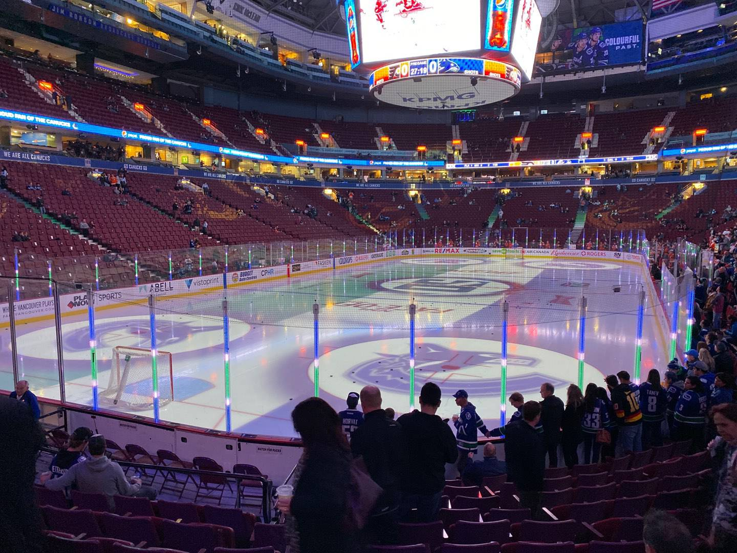 Rogers Arena Section 120 Row 11 Seat 11