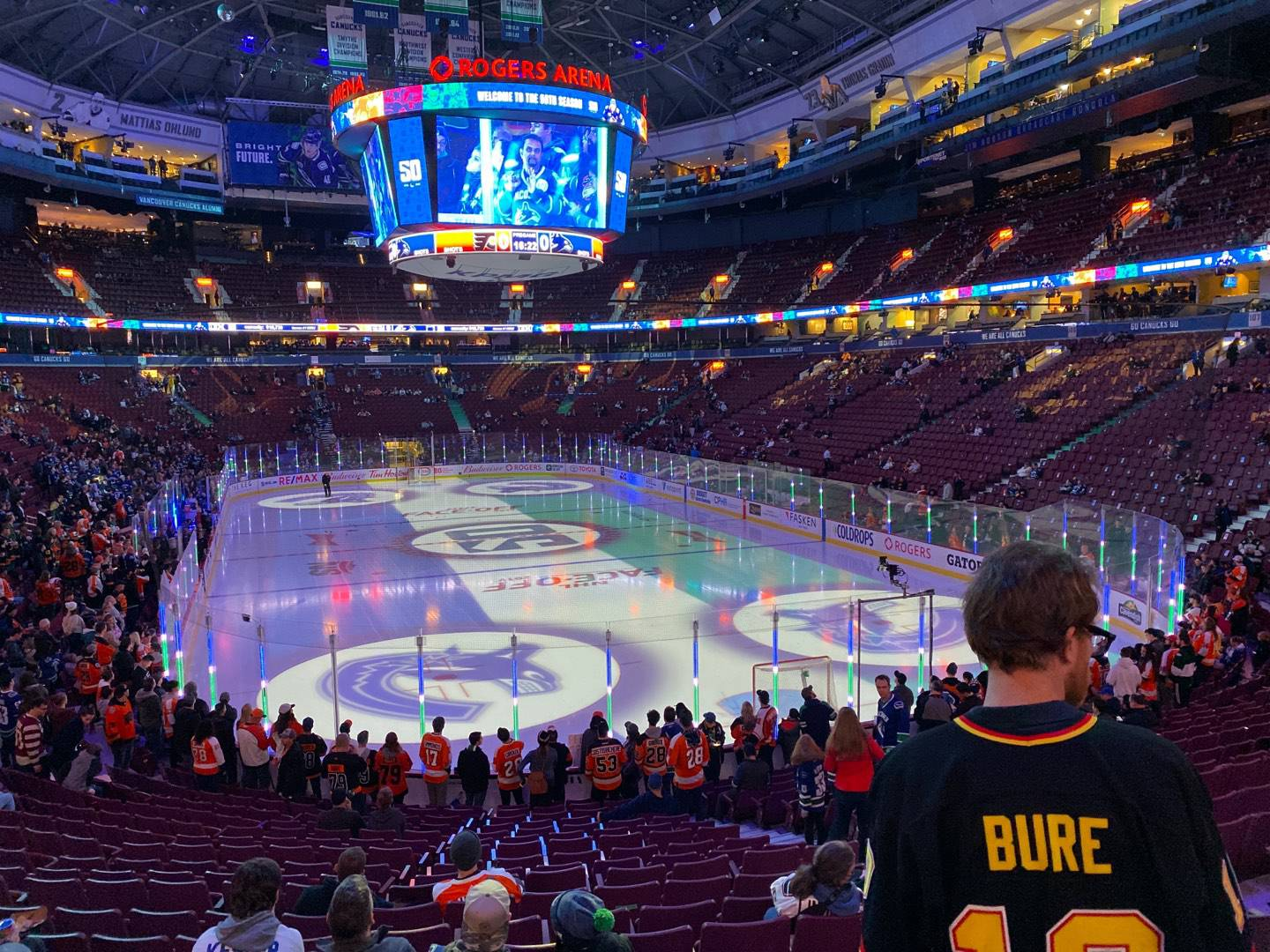 Rogers Arena Section 112 Row 19 Seat 110