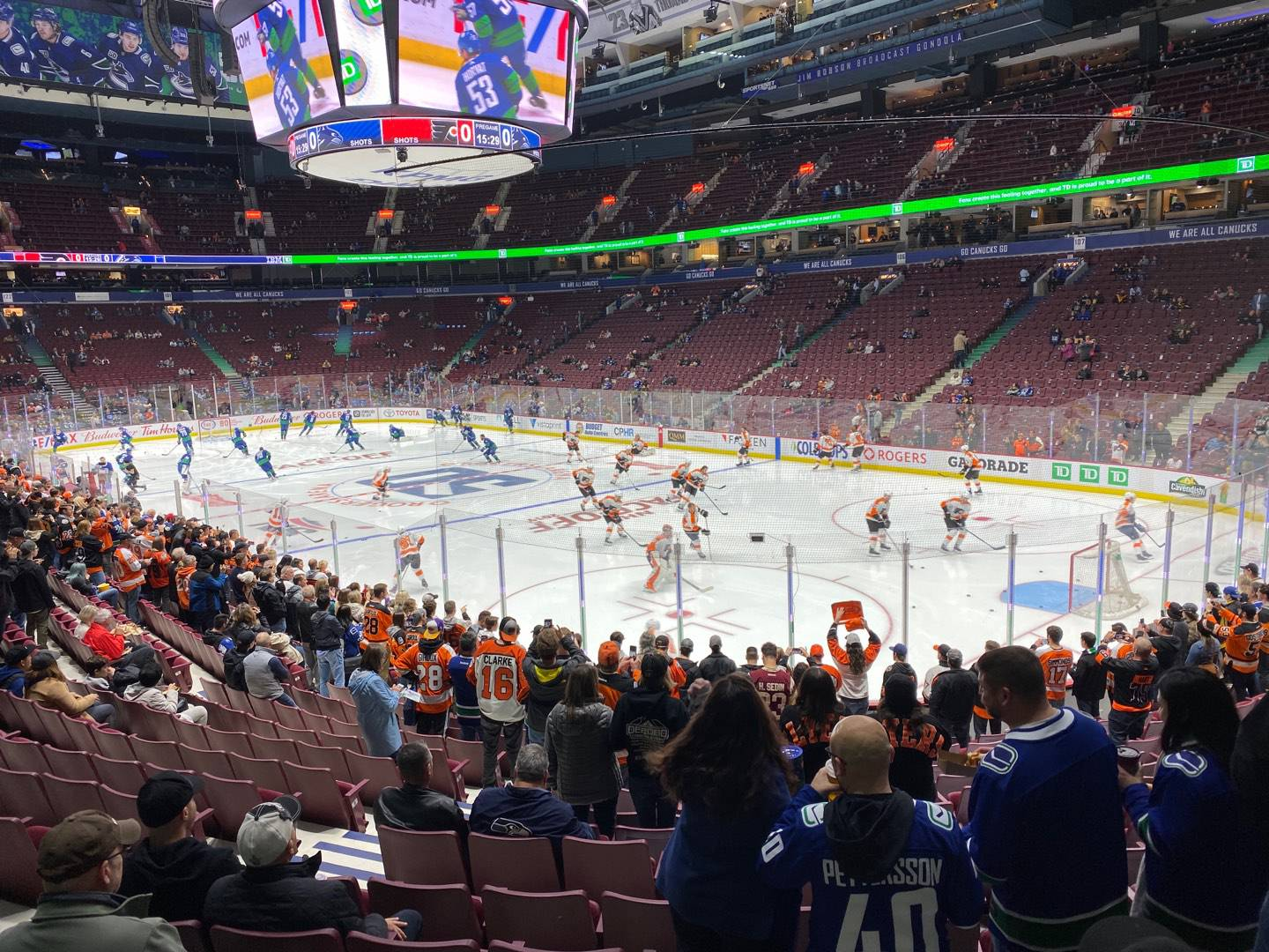 Rogers Arena Section 114 Row 12 Seat 6