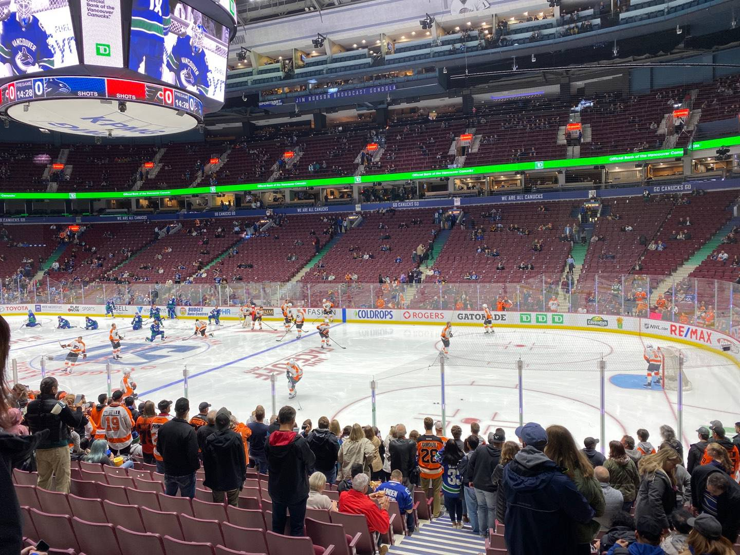 Rogers Arena Section 115 Row 14 Seat 2