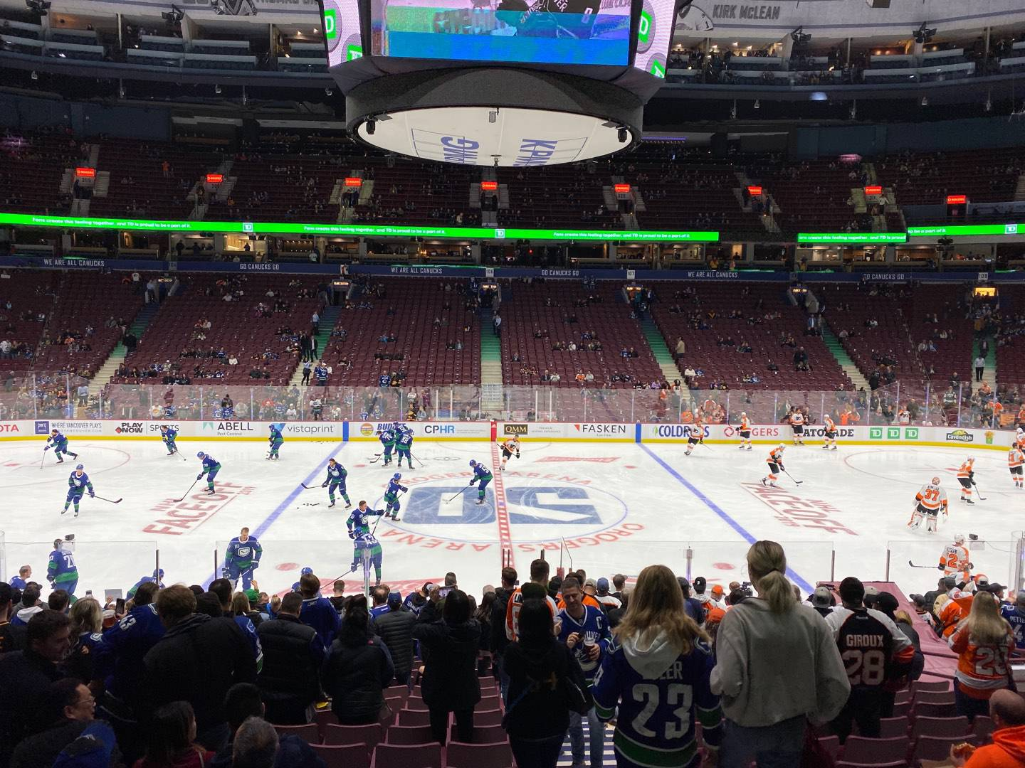 Rogers Arena Section 117 Row 18 Seat 101
