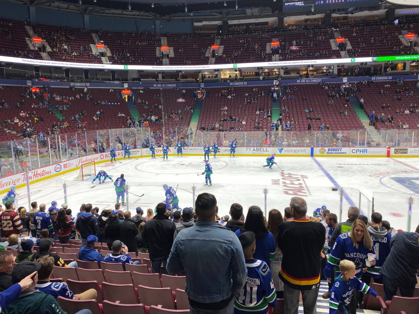 Rogers Arena Section 118 Row 13 Seat 101