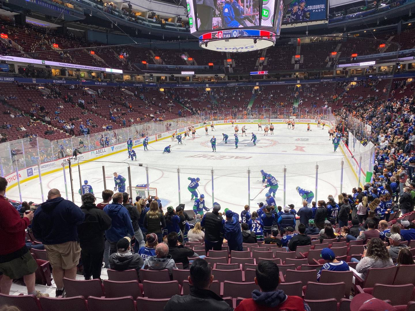 Rogers Arena Section 122 Row 16 Seat 7