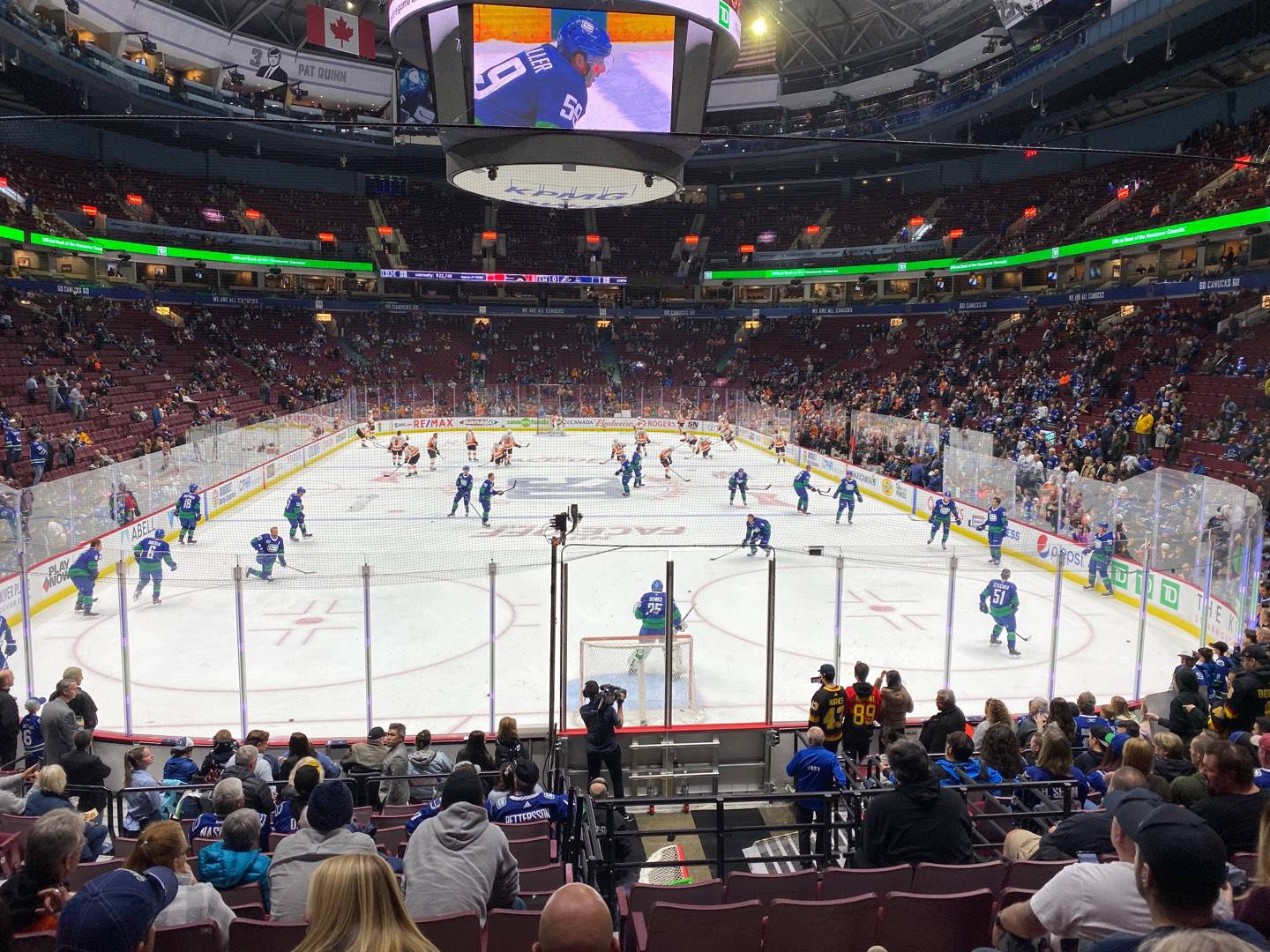 Rogers Arena Section 101 Row 15 Seat 7