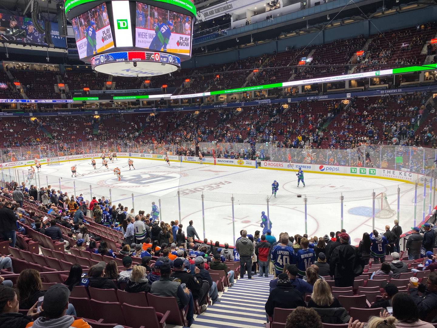 Rogers Arena Section 103 Row 17 Seat 1