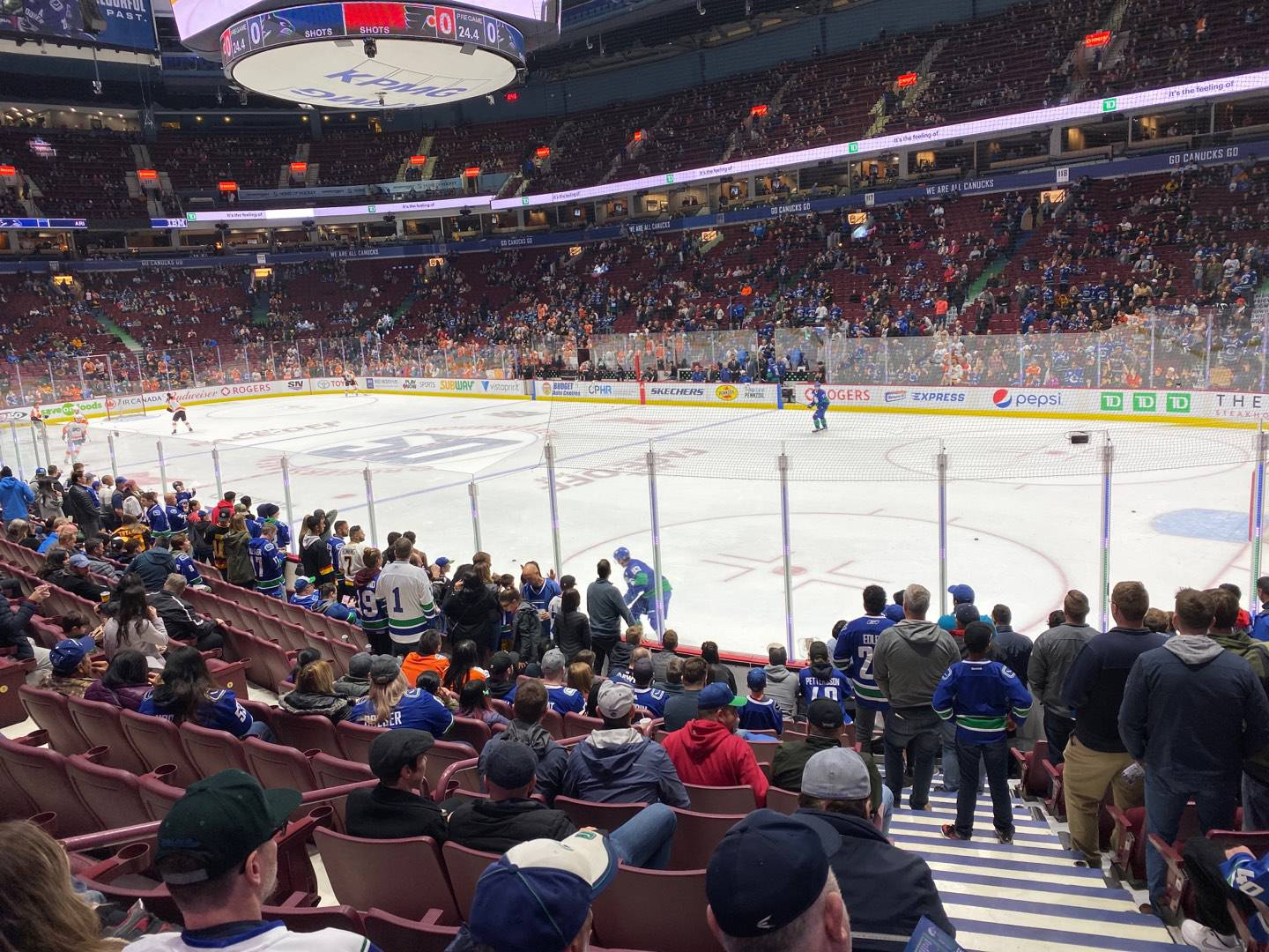 Rogers Arena Section 103 Row 12 Seat 101