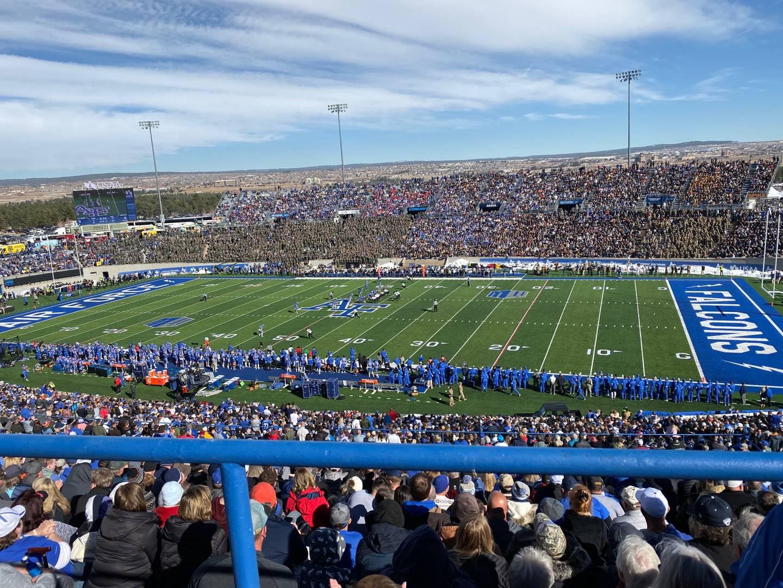 Falcon Stadium Section M6 Row Wc Seat 1