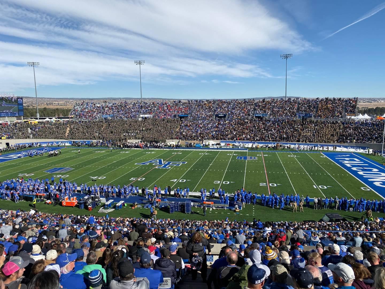 Falcon Stadium Section M6 Row V Seat 32