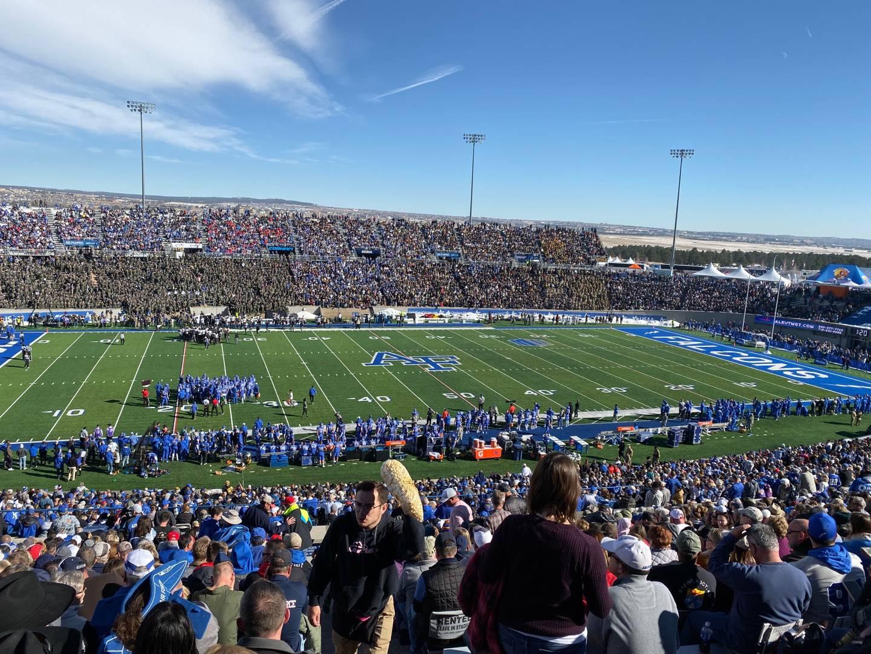 Falcon Stadium Section M10 Row X Seat 1
