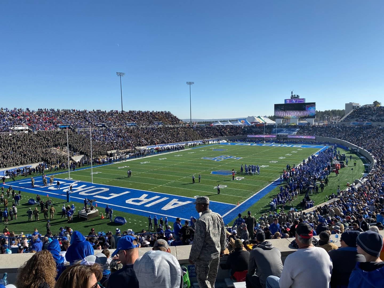Falcon Stadium Section M15 Row K Seat 1