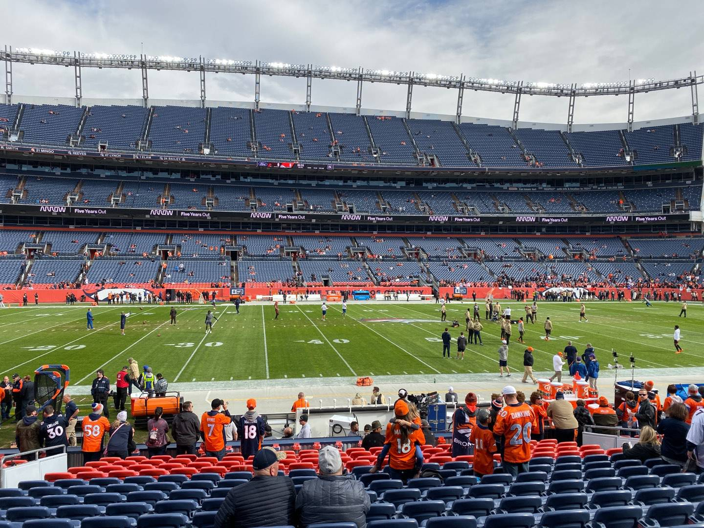 Empower Field at Mile High Stadium Section 106 Row 16 Seat 14