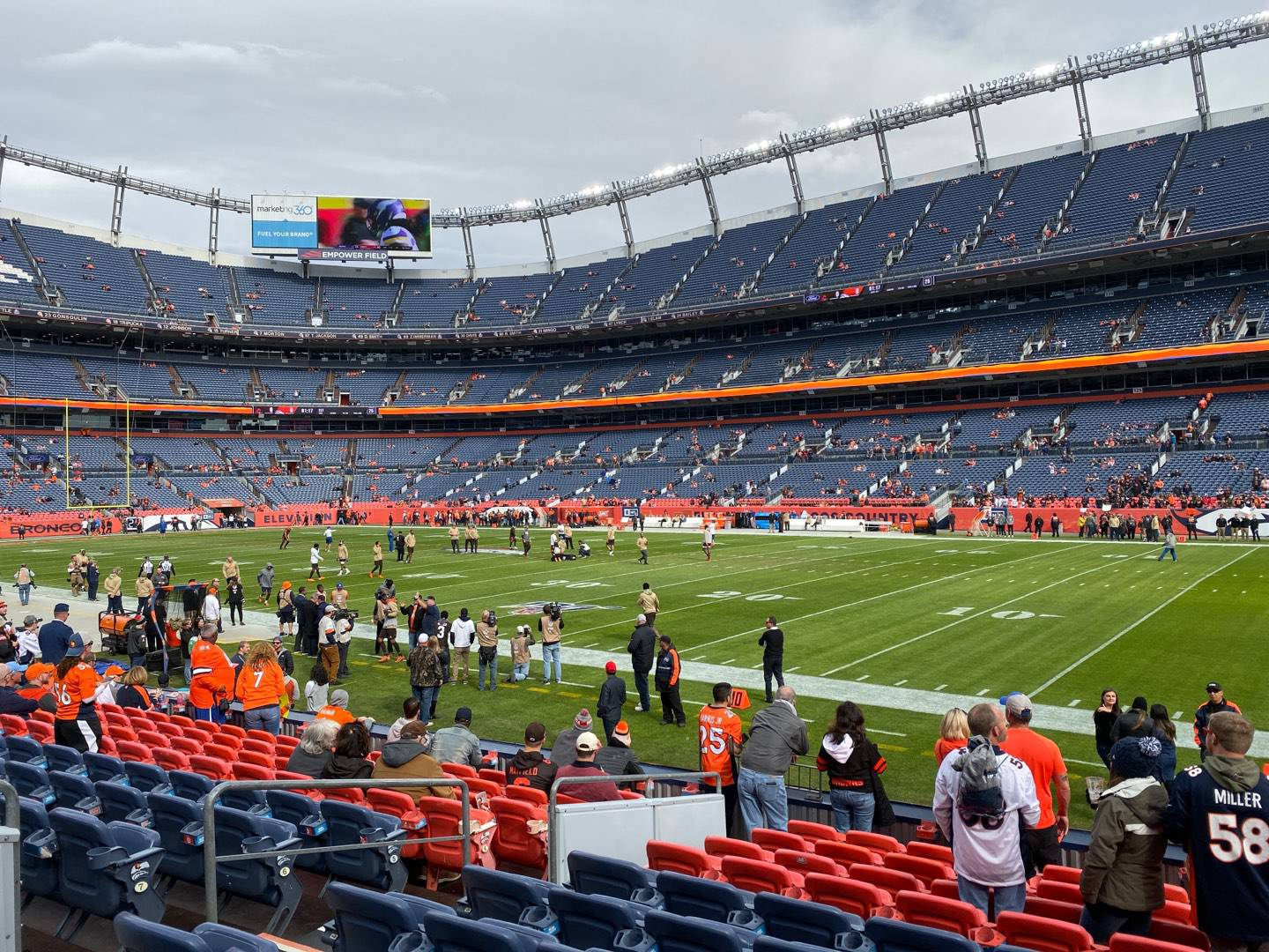 Empower Field at Mile High Stadium Section 101 Row 11 Seat 9