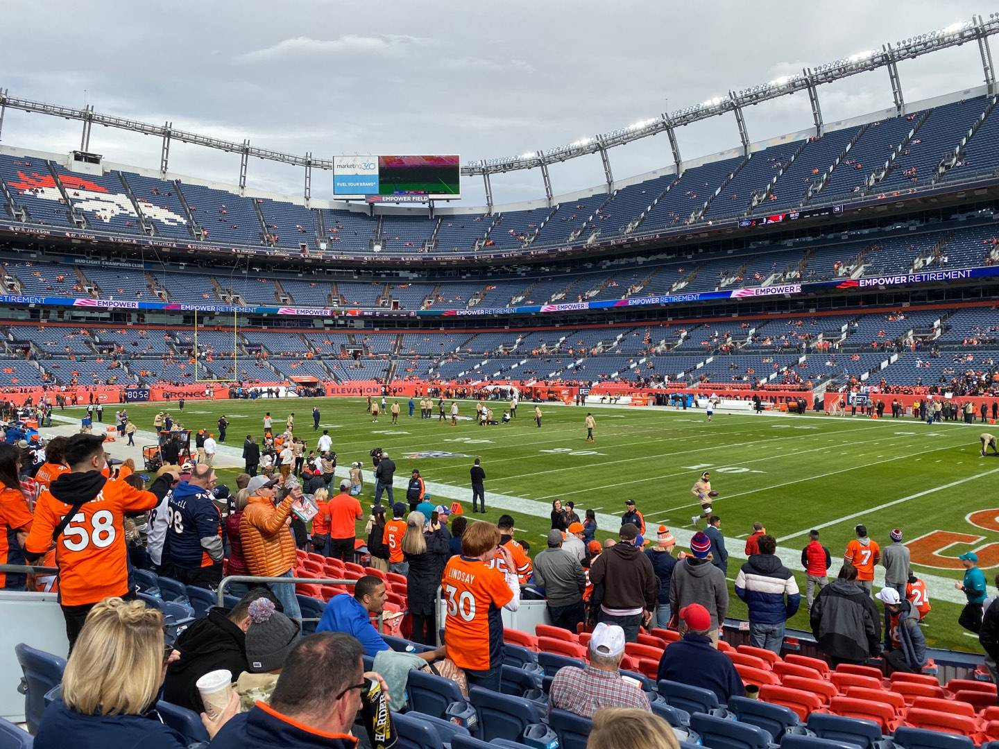 Empower Field at Mile High Stadium Section 100 Row 12 Seat 21