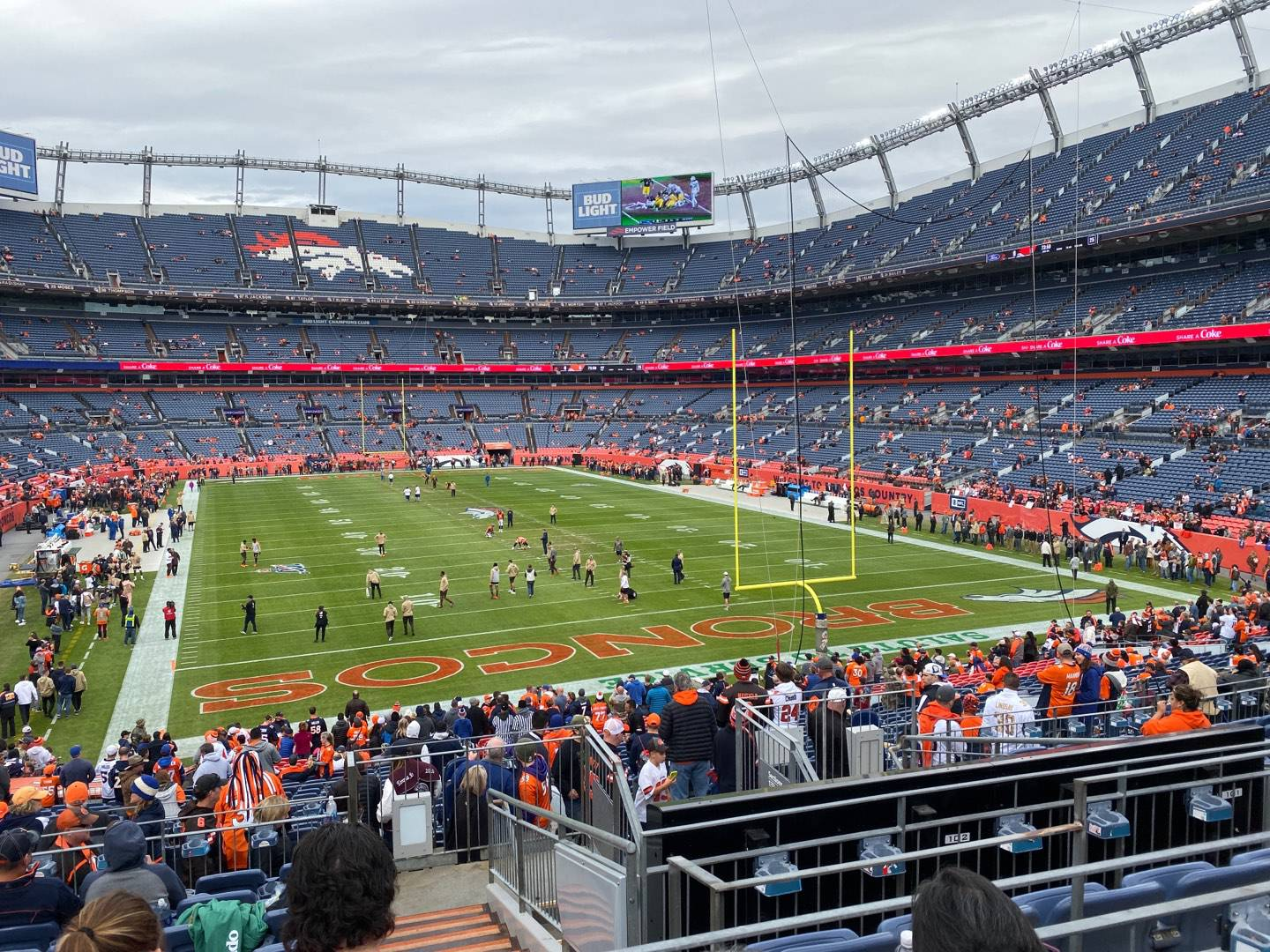 Empower Field at Mile High Stadium Section 134 Row 34 Seat 5