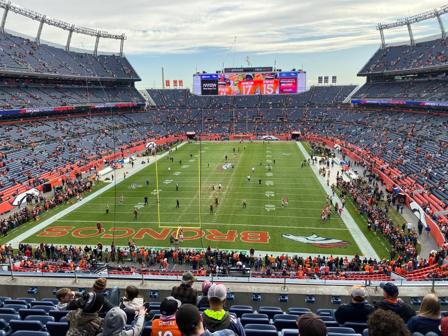 Empower Field at Mile High Stadium Section 322 Row 8 Seat 10