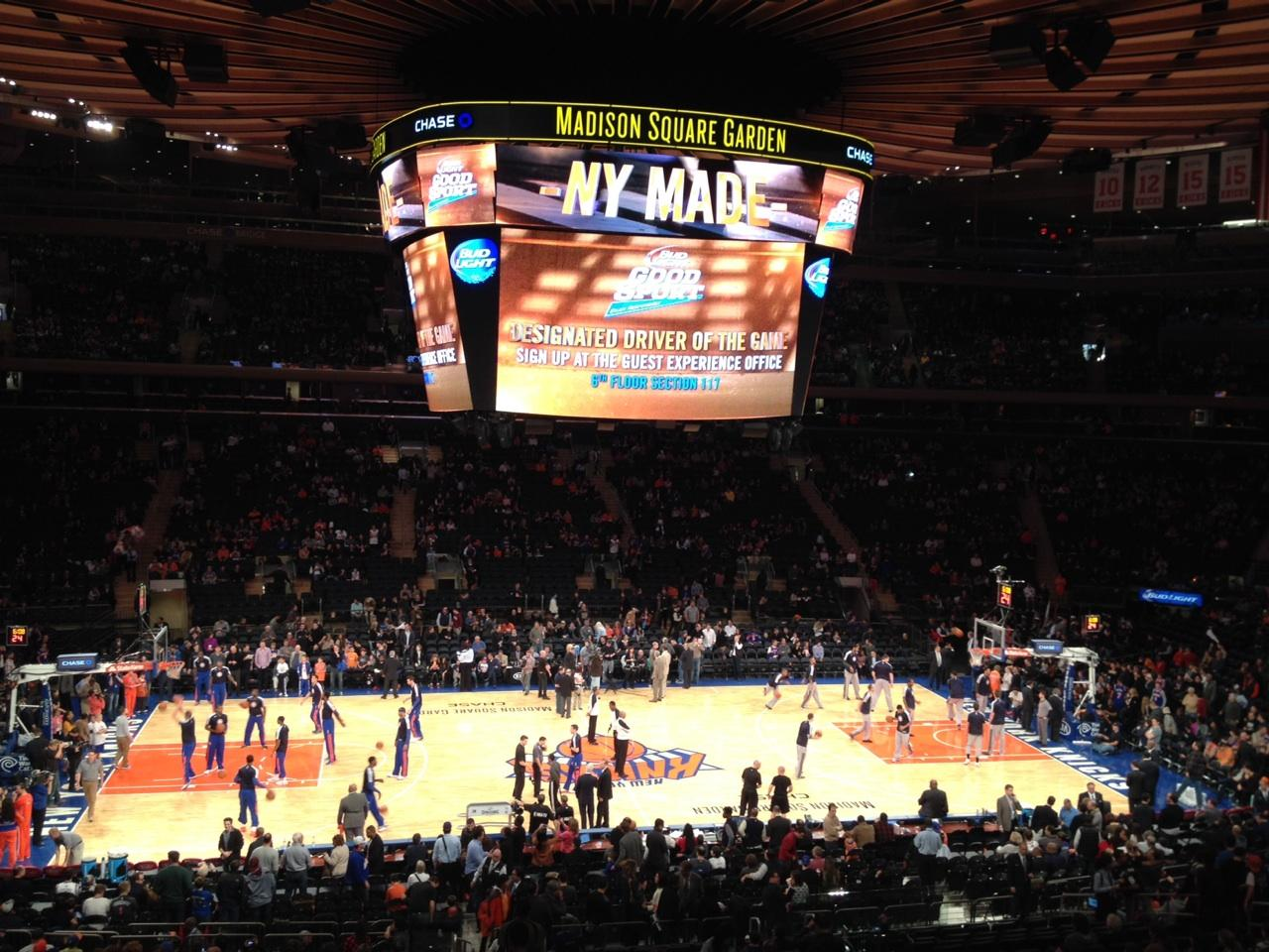 Madison Square Garden Section Suite 45 Seat 5 New York Knicks Vs San Antonio Spurs Shared By