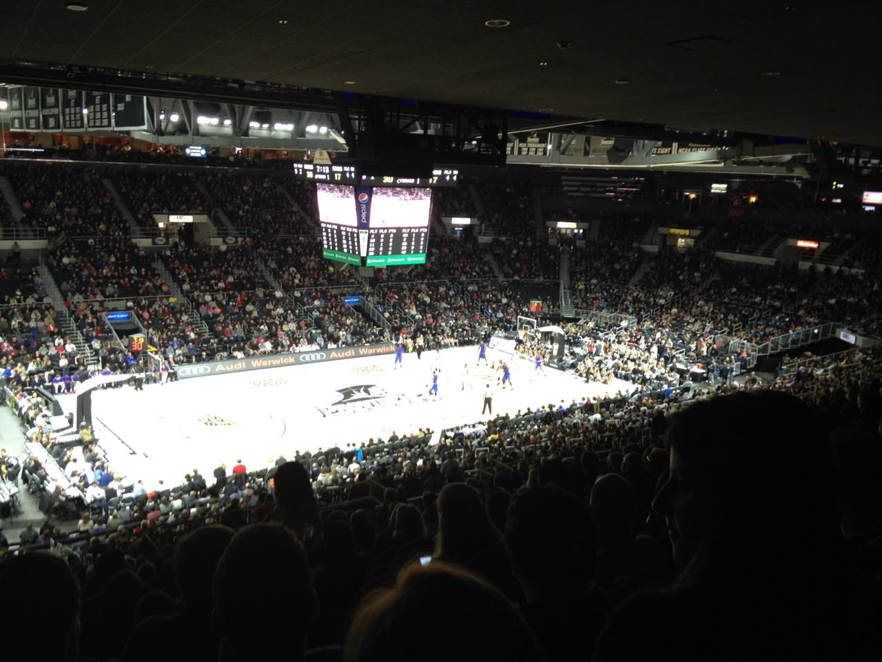 Dunkin' Donuts Center Section 214 Row T Seat 10