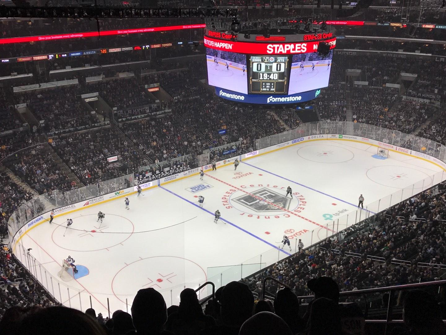 Staples Center Section 322 Row 12 Seat 6