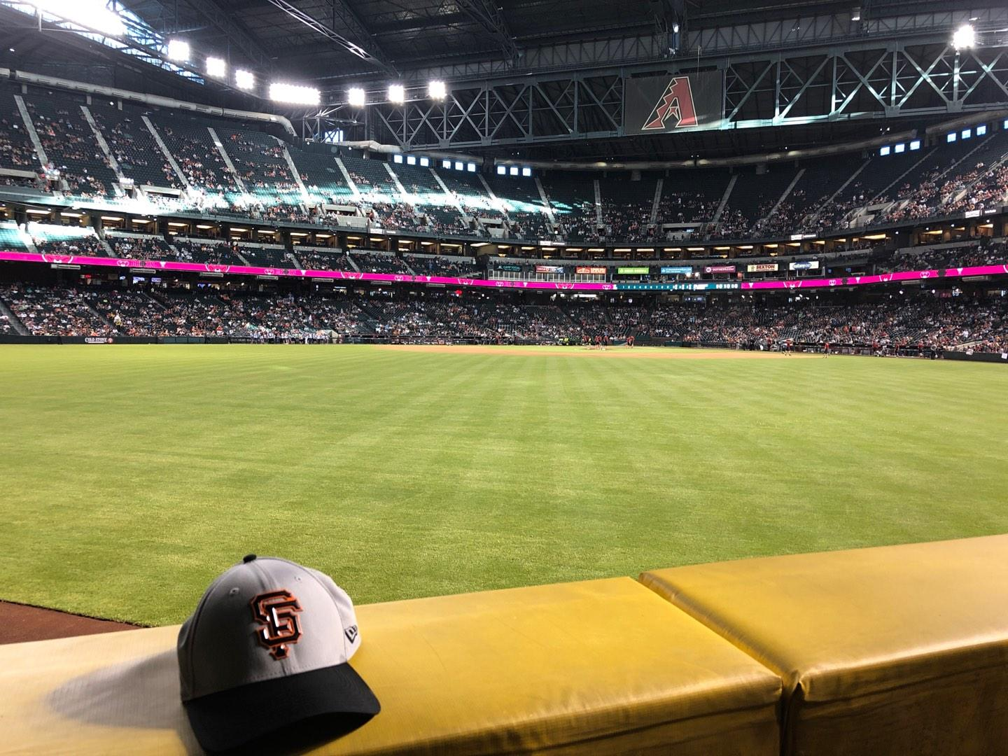 Chase Field Section 144 Row 11 Seat 20