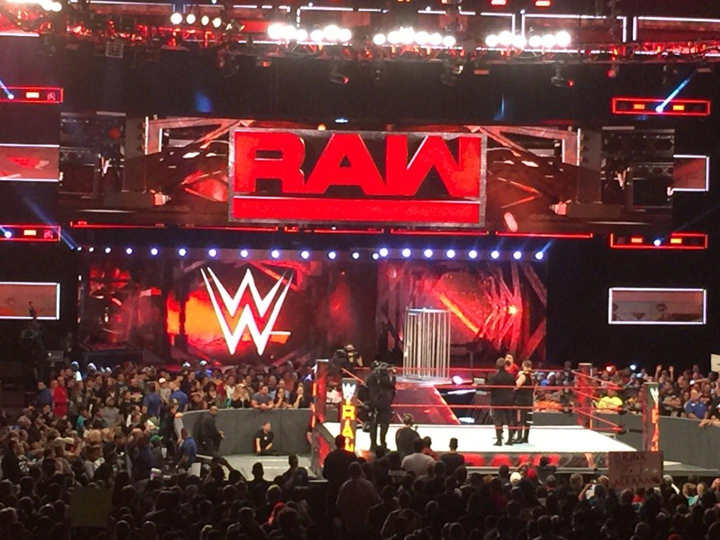 Amalie Arena Section 109 Row S Seat 13 Monday Night Raw