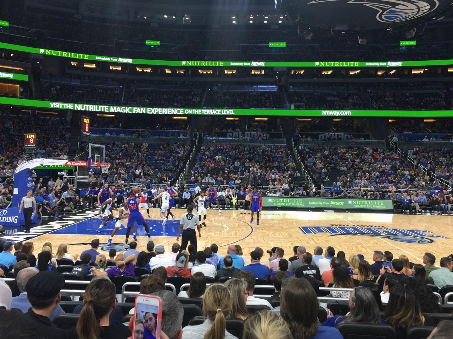 Amway Center Section 115 Row 7 Seat 9