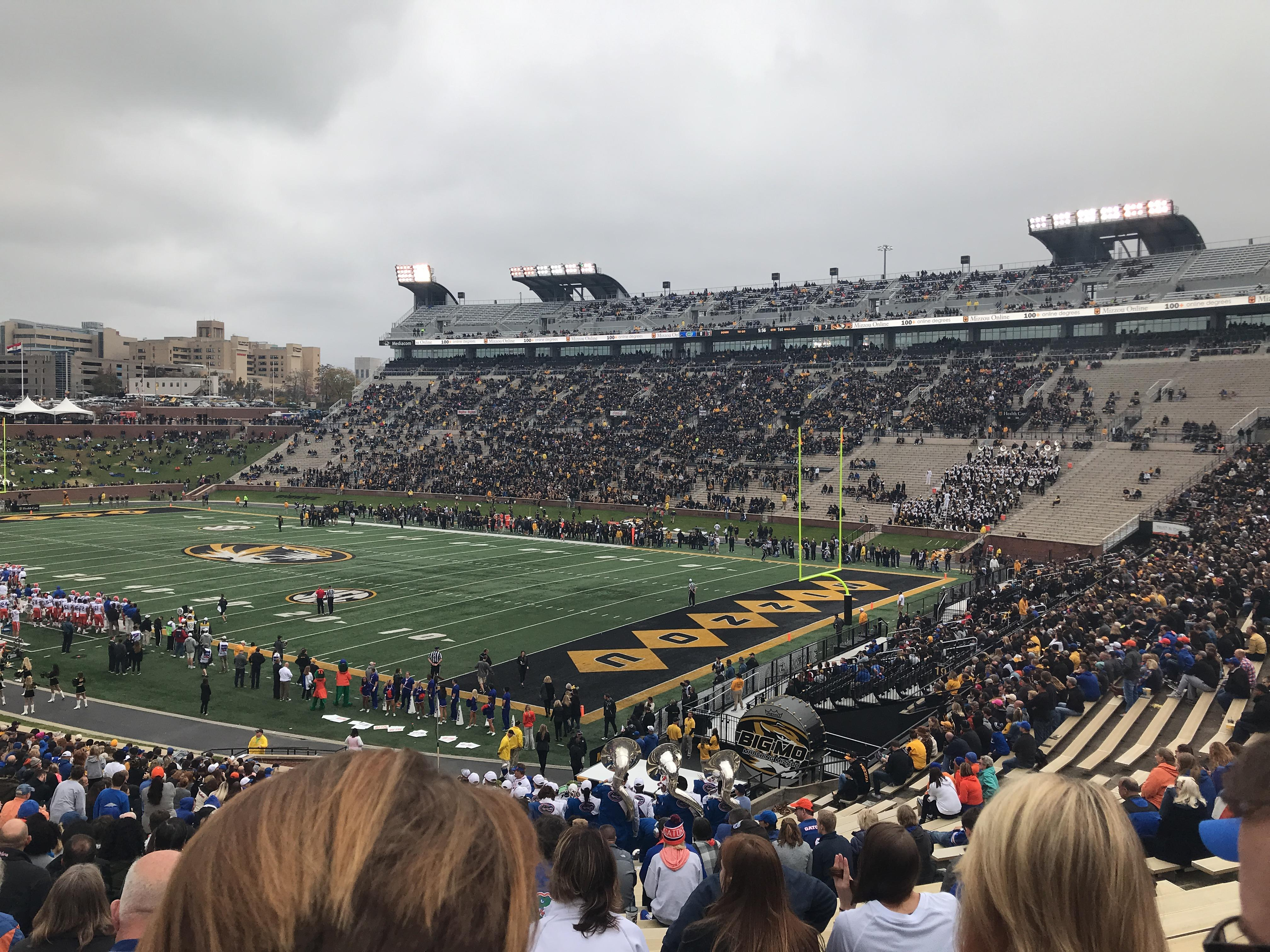 Faurot Field Section 1 Row 44 Seat 12