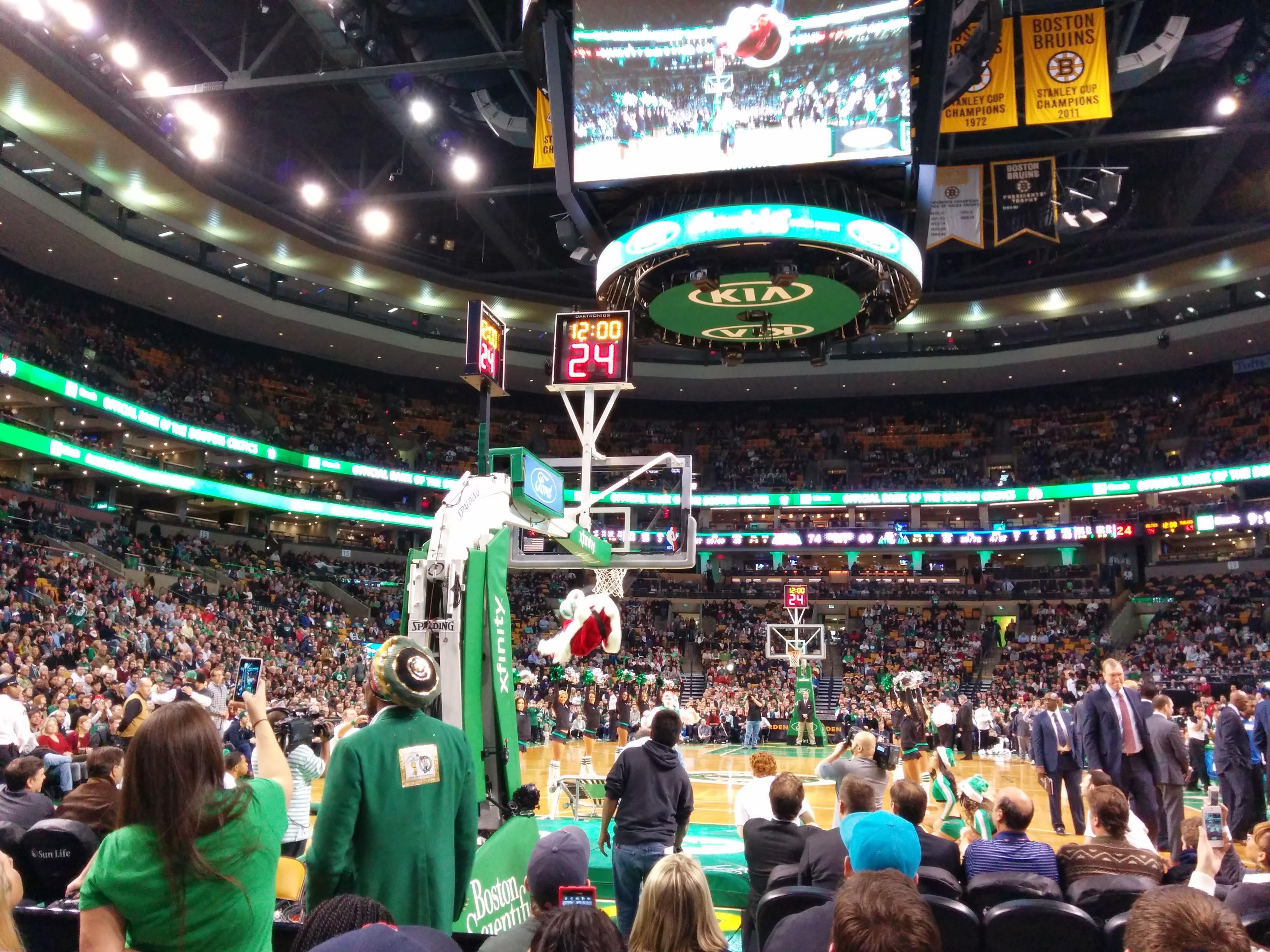 Td Garden Section Loge 6 Row E Seat 7 Boston Celtics Vs