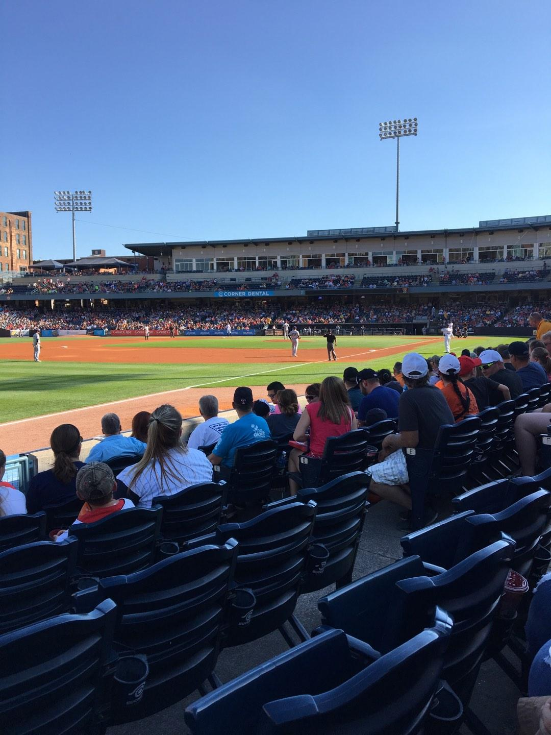 Fifth Third Field Section 102 Row G Seat 6