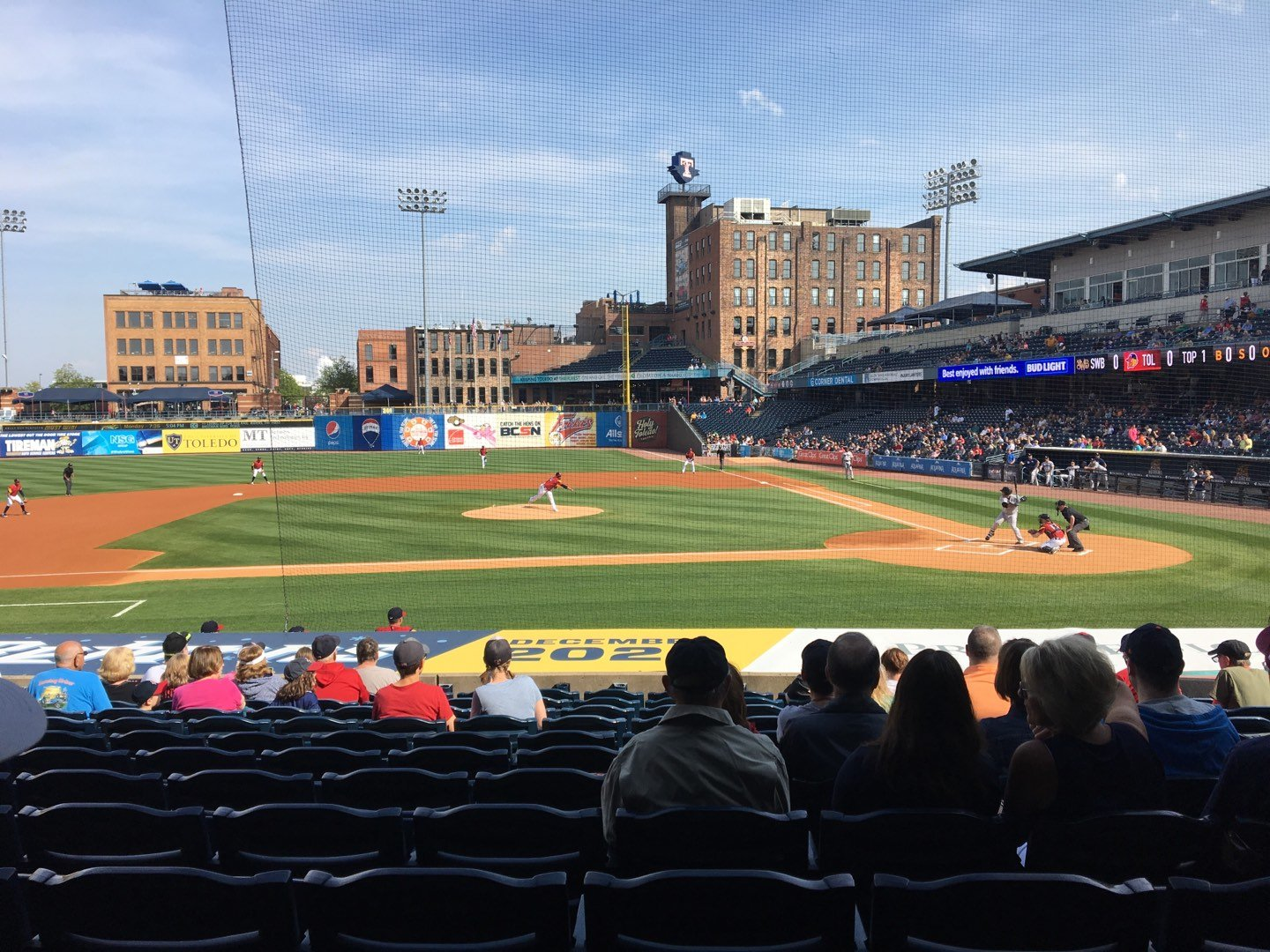 Fifth Third Field Section 107 Row S Seat 12