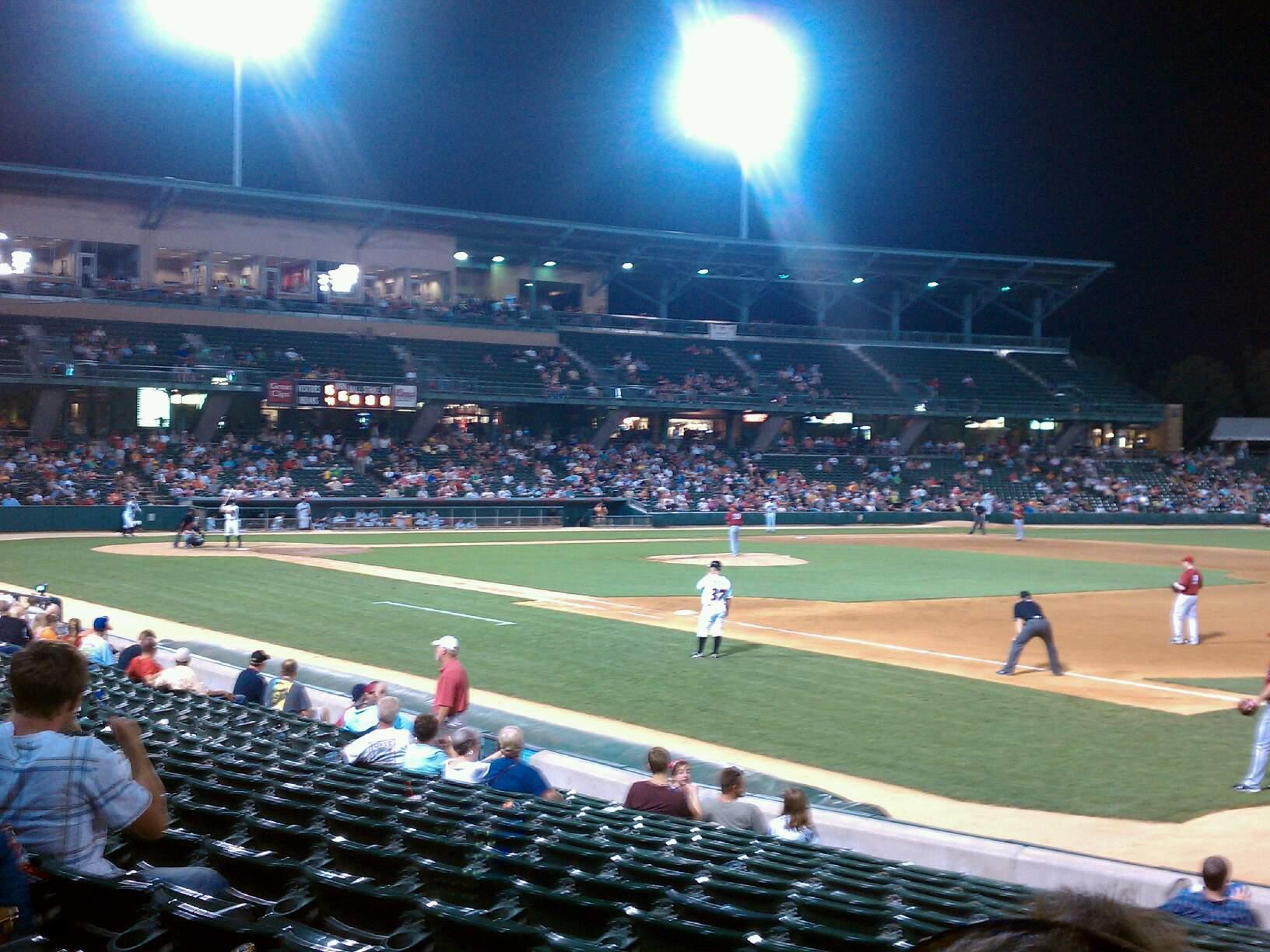 Victory Field Section 117 Row P Seat 3