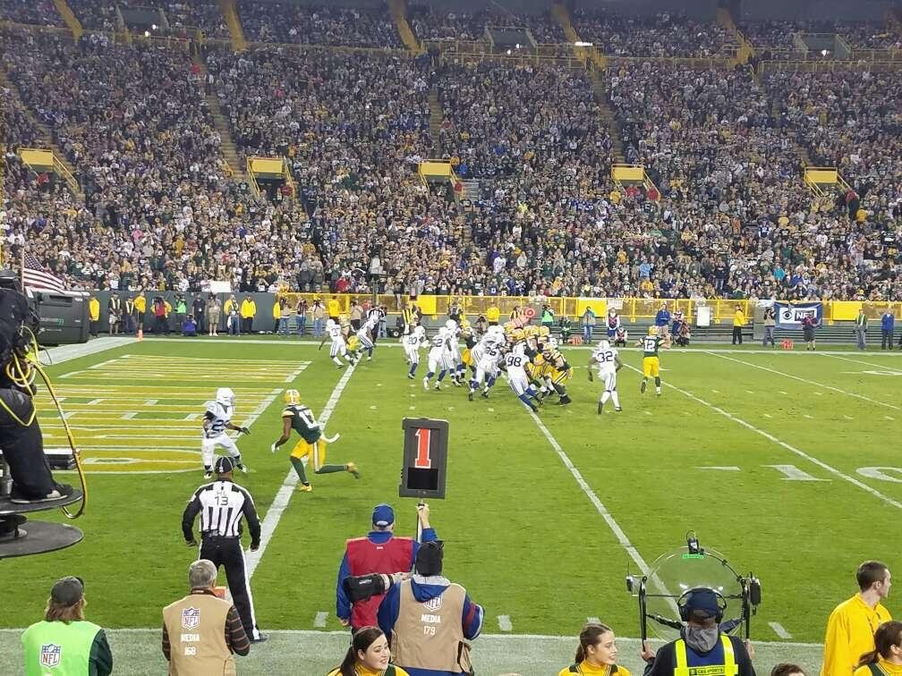 Lambeau Field Section 112 Row 6 Seat 8
