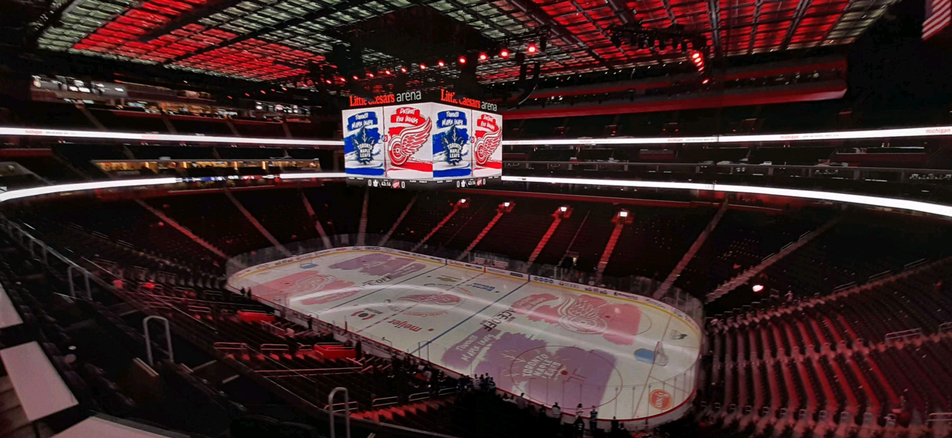 Little Caesars Arena Section M24 Row 1 Seat 3