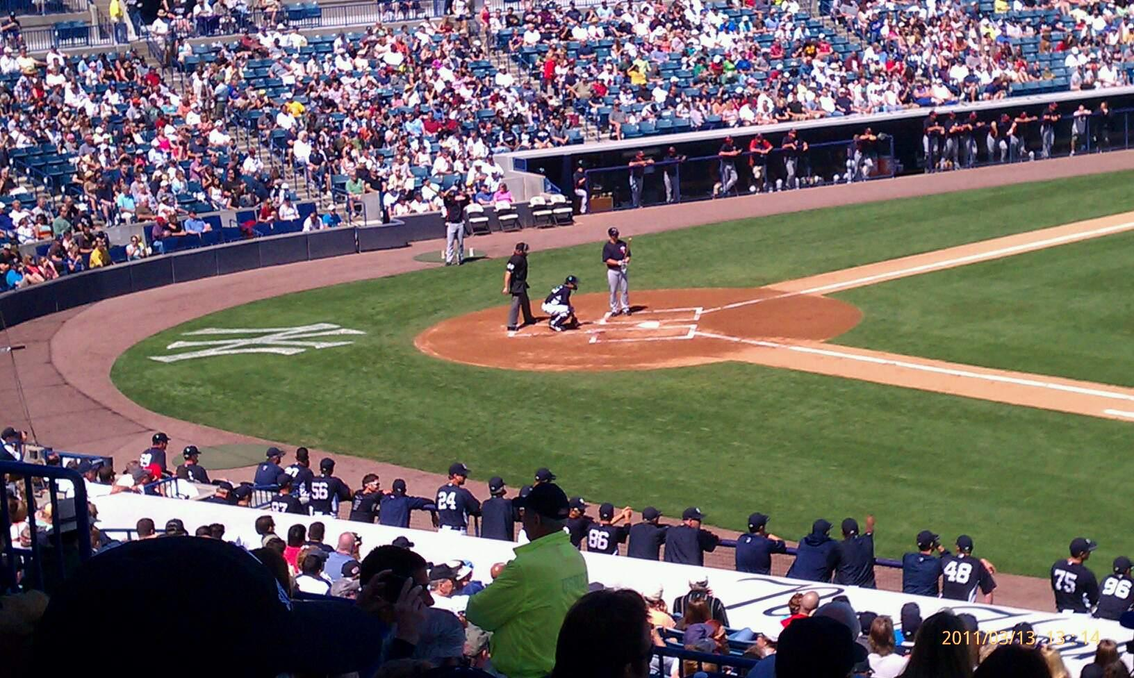 George M. Steinbrenner Field Section 205 Row j Seat 9