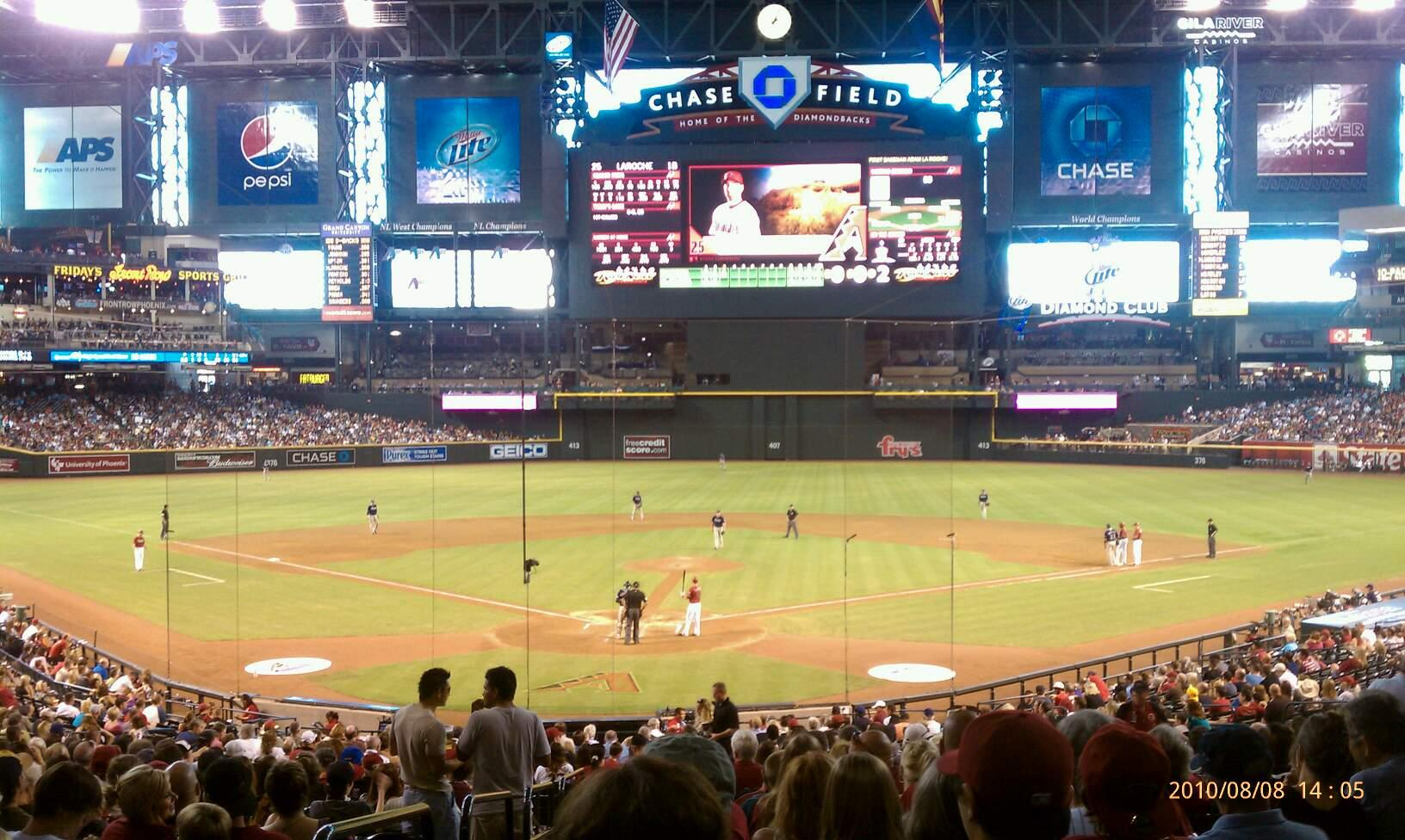 Chase Field Section 122 Row 39 Seat 1