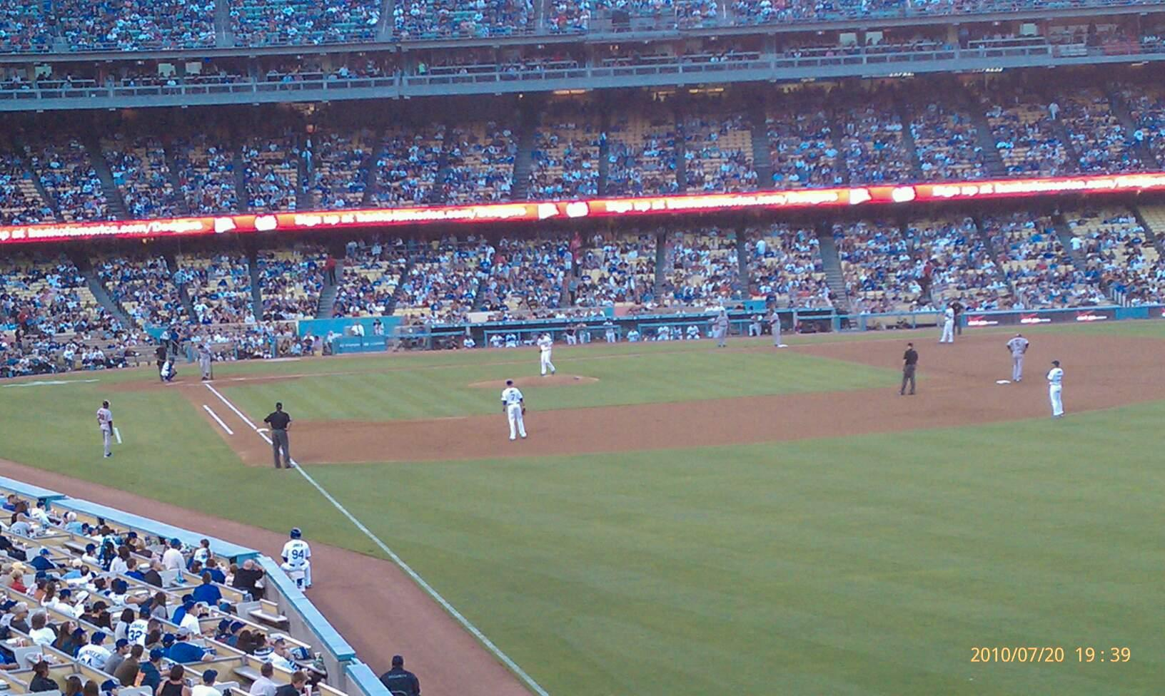Dodger Stadium Section 160LG