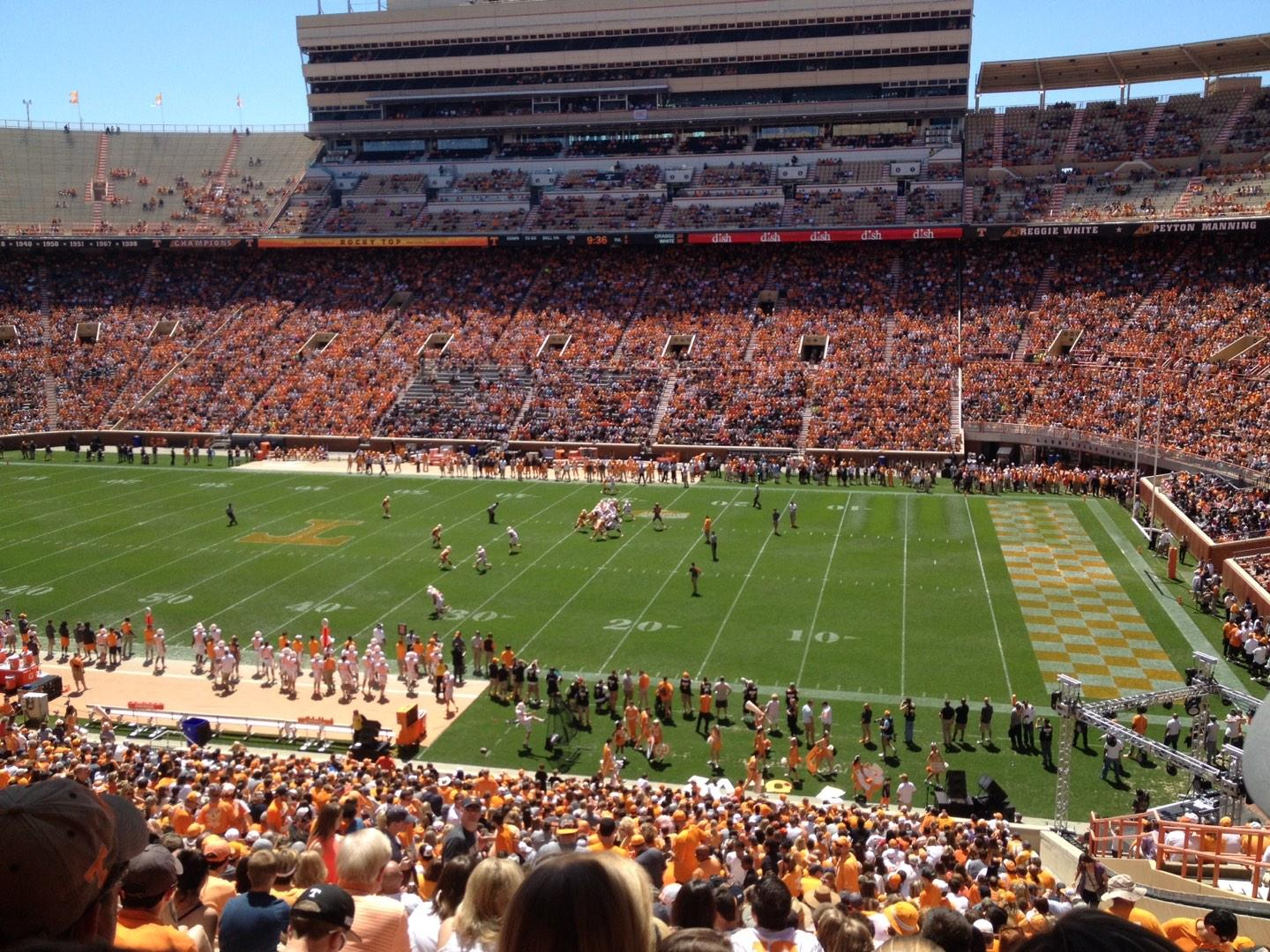 Neyland Stadium Section A Row 50