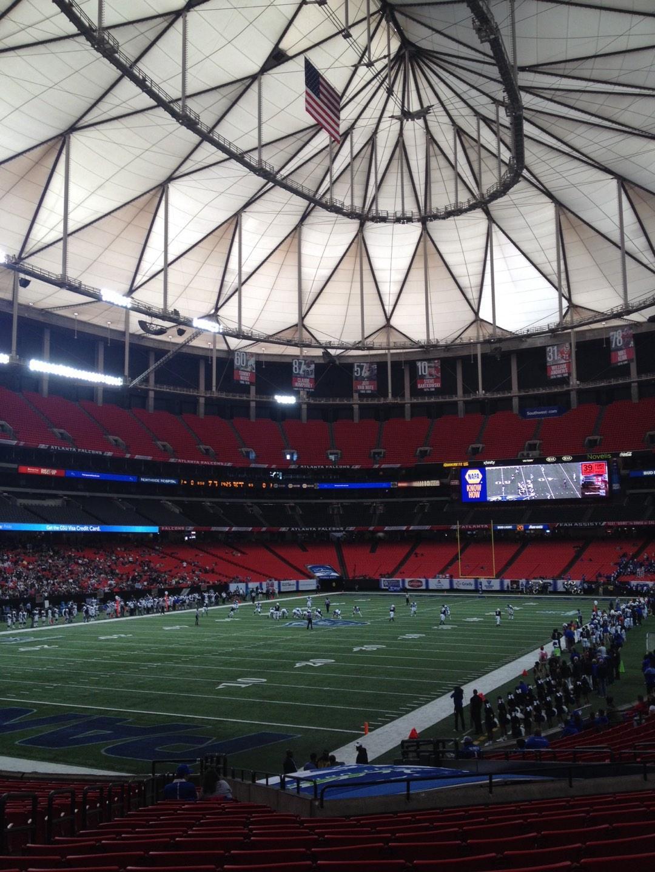 Georgia Dome Section 122 Row 26 Seat 5
