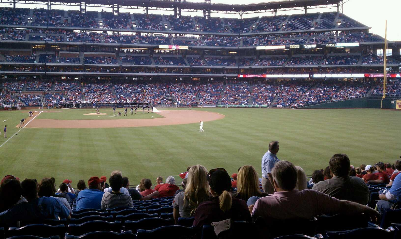 Citizens Bank Park Section 106 Row 18 Seat 6