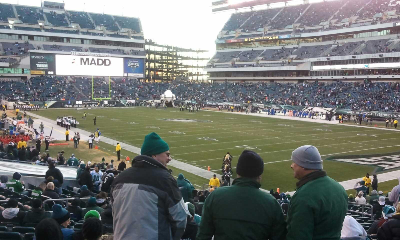 Lincoln Financial Field Section 126 Row 26 Seat 9