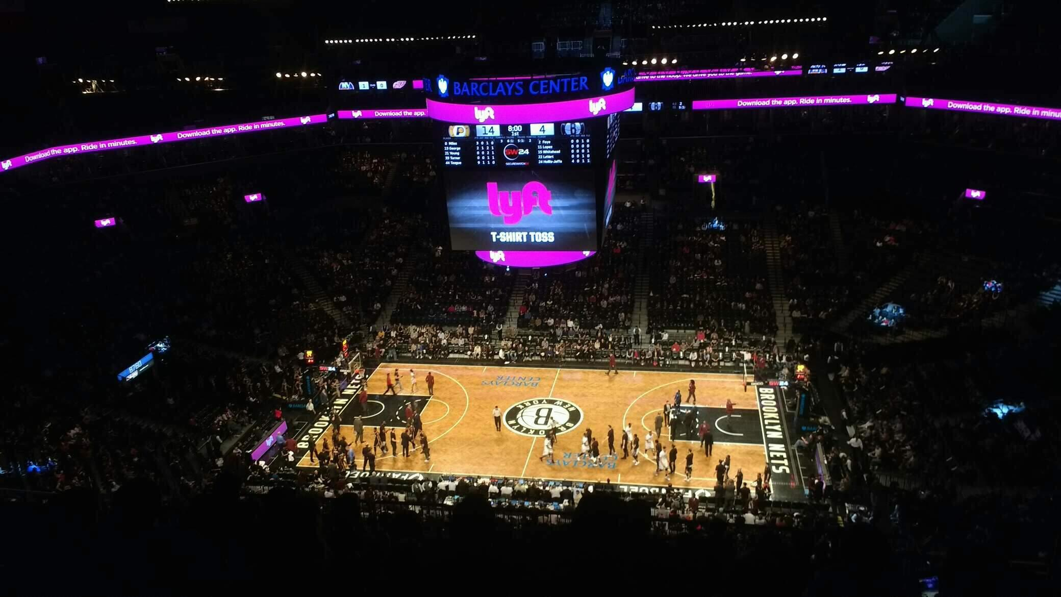 Barclays Center Section 207 Row 14 Seat 6