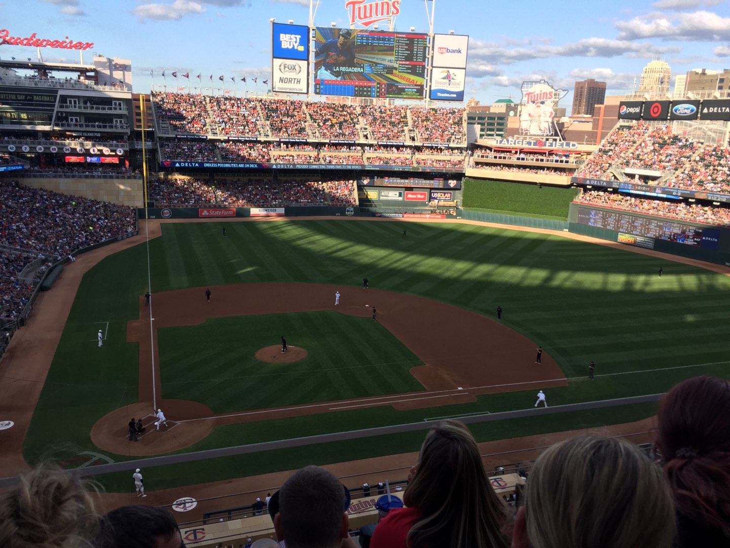 Target Field Section 211 Row 3 Seat 11